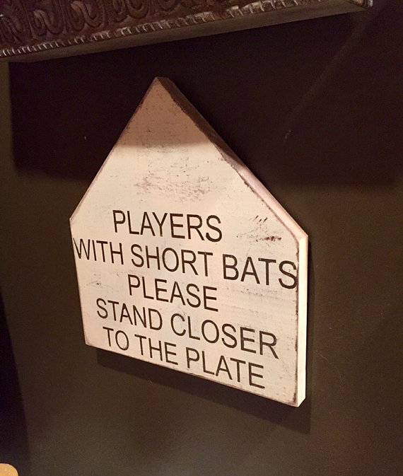 baseball signs - funny bathroom signs - bathroom decor - funny ...