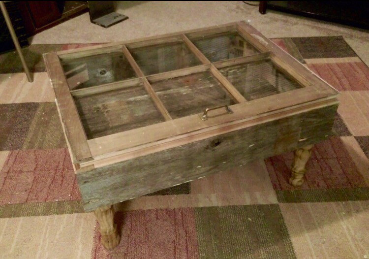 Rustic Shadow Box Coffee Table