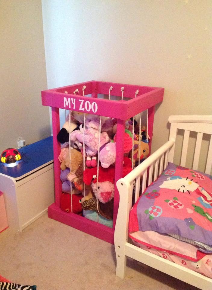Stuffed animal zoo stuffed animal storage toy box for Kids room store