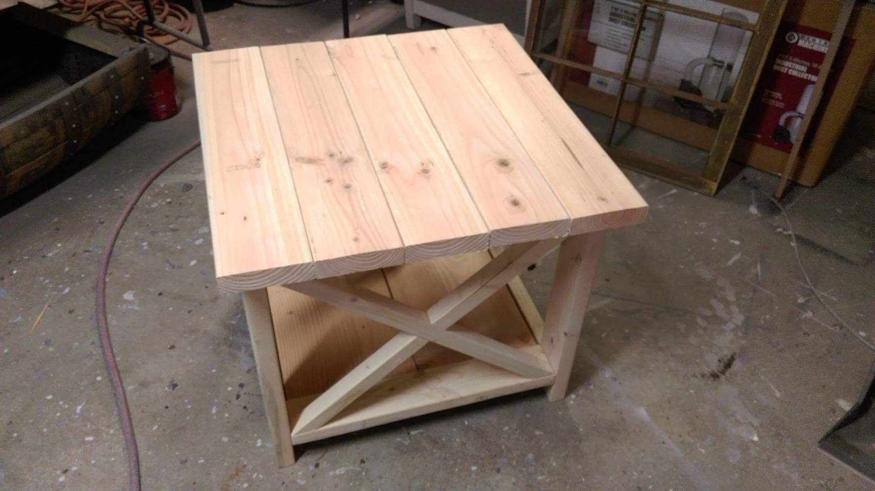 Rustic End Tables Living Room Furniture X Table Farmhouse Barnwood Shabby Or Stained Country